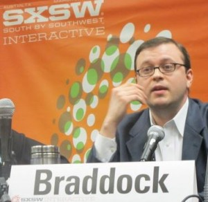 Scott Braddock speaks at the SXSW Interactive Festival in Austin.