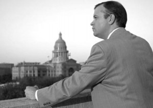 Scott Braddock keeping watch on the Texas Capitol.
