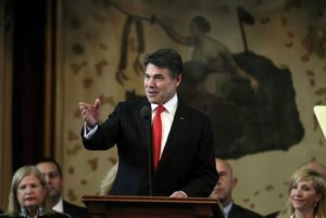Gov. Rick Perry, R-Texas, delivers his 2013 State of the State Address